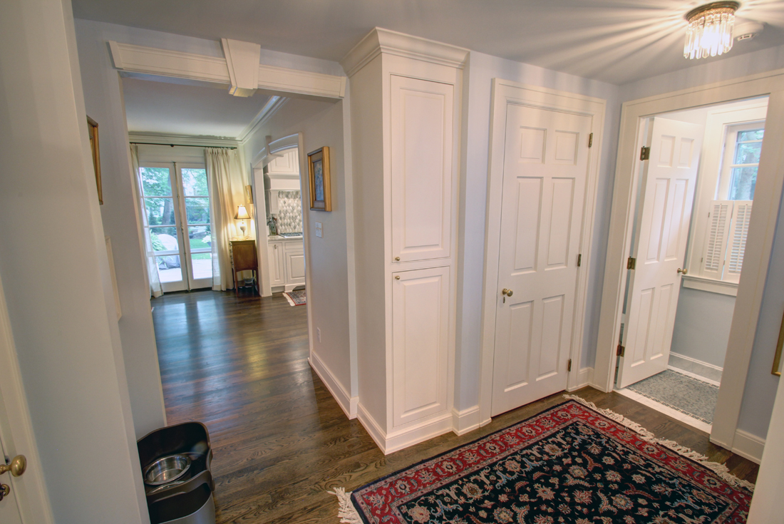 colonial revival back hall remodel