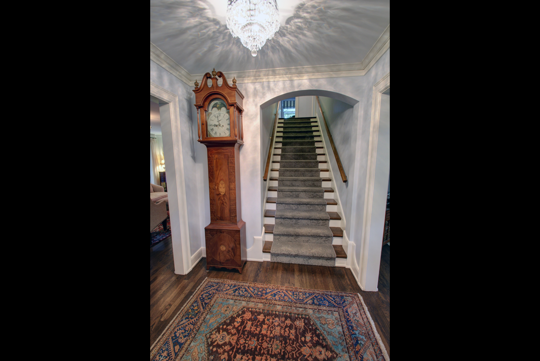 colonial revival foyer remodel