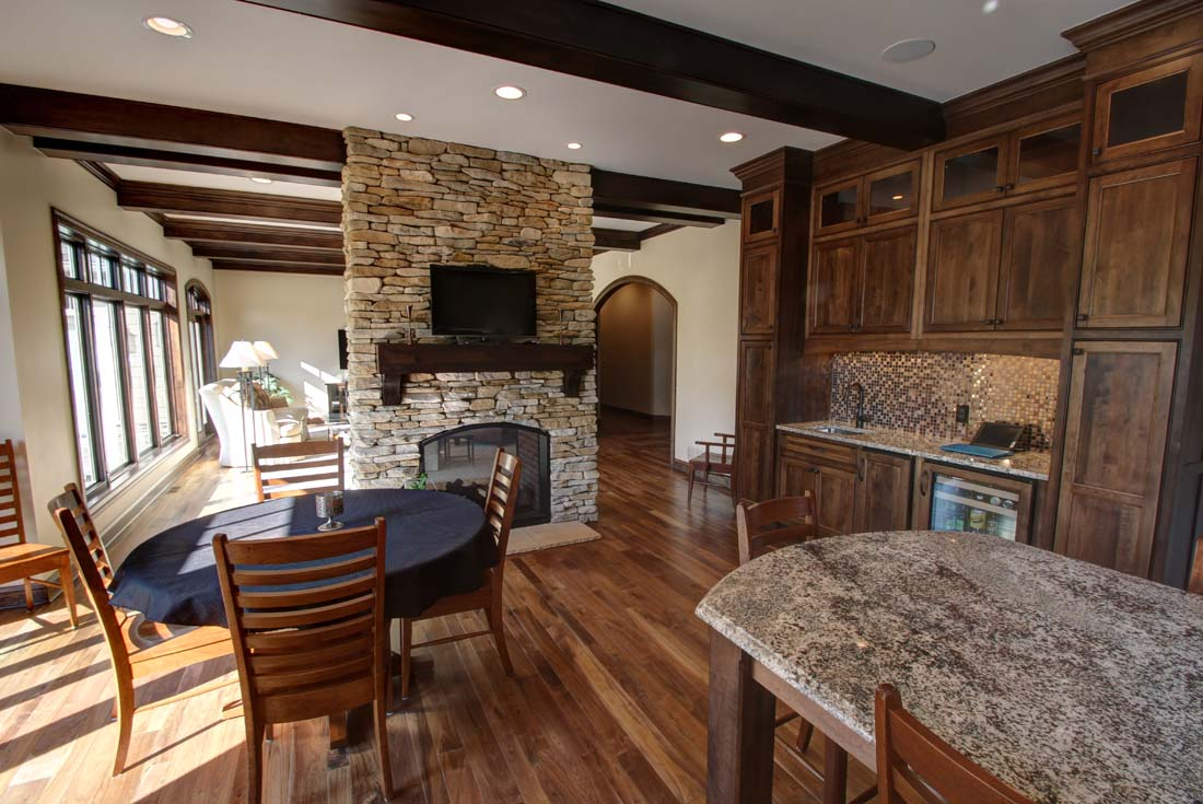 traditional custom home casual dining