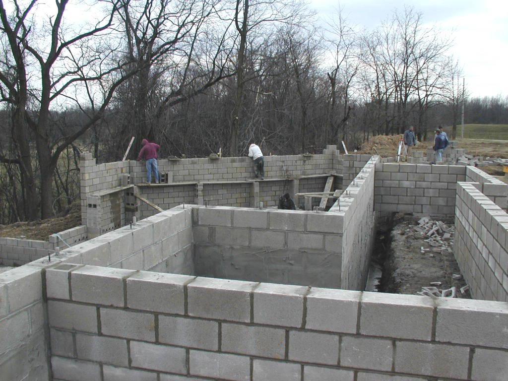 Basement or crawl space for Basement foundation construction