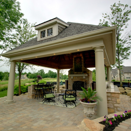 outdoor kitchen living dining
