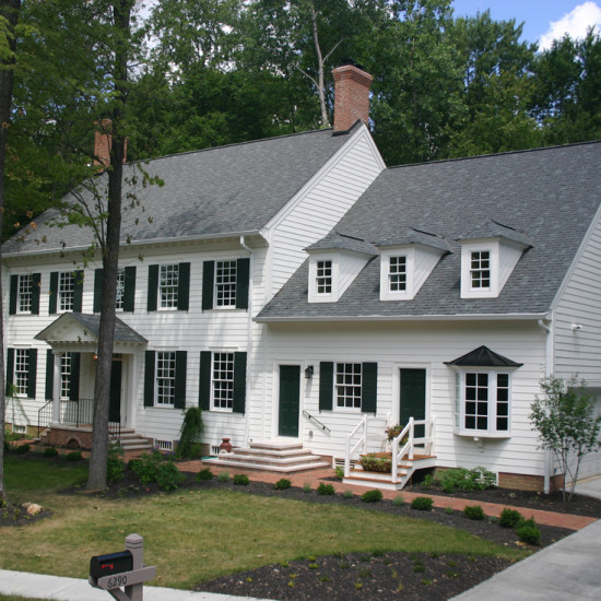 williamsburg colonial custom home