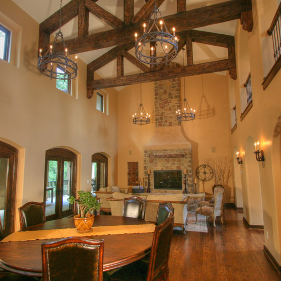 tuscan home family room